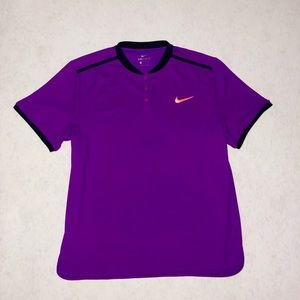 Nike button up dri fit tee
